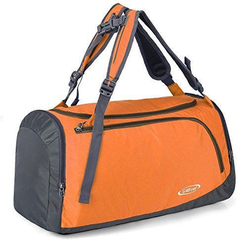 G4Free Lightweight Sports Gym Bag Travel Duffle Backpack Weekend Bag with Shoes Compartment