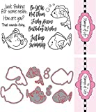 The Stamps of Life Clear Stamps & Dies, fish2stamp & Fish Die Set