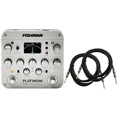 Fishman Platinum Pro EQ/DI w/ 2 Instrument Cables by Fishman