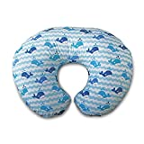 Boppy Nursing Pillow and Positioner - Whale Watch, Blue