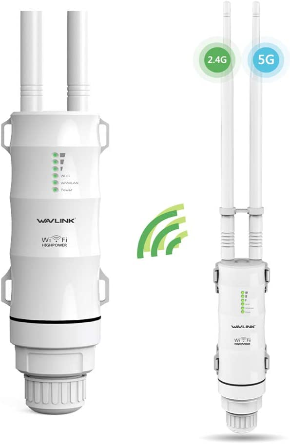 GALAWAY WiFi Range Extender Dual Band 2.4G + 5G 600Mbps WiFi Extender Range Repeater Internet Signal Booster Amplifier in PoE & 2 Antennas Used for Outdoor WiFi Coverage