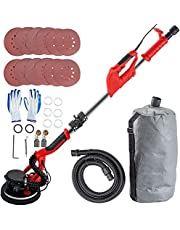 Mophorn Drywall Sander 850W, Electric Drywall Sander, Variable Speed 800-1750 RPM, Foldable Sheetrock Sander, with Telescope Handle, Electric Sander, with LED Strip Light and Vacuum Bag,Wall Sander