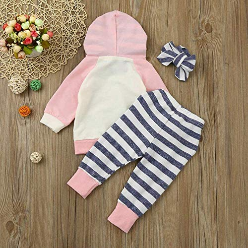 Baby Girl's Clothes Long Sleeve Hoodie Tops Sweatsuit Pants Headband Outfits Set (Pink, 18-24 Months) by Cshadow (Image #3)