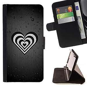For Samsung Galaxy S6 EDGE (NOT S6) Case , La vida está llena de gente falsa- la tarjeta de Crédito Slots PU Funda de cuero Monedero caso cubierta de piel