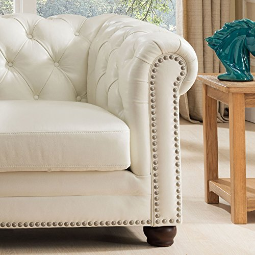 White Leather Sofa Maintenance: Amax Leather Monaco 100% Leather Sofa And Armchair, Pearl