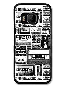 Cassette Print in Black and White Stylish Fashion New Design carcasa de HTC One M9
