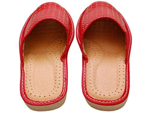 Salabobo - Zapatillas de danza de Piel para mujer Rojo rojo VBirfW