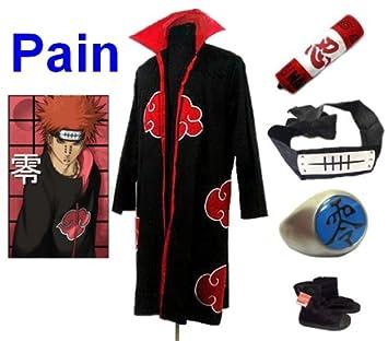 Sunkee Naruto Cosplay Akatsuki Ninja Pain Traje--Capa ...