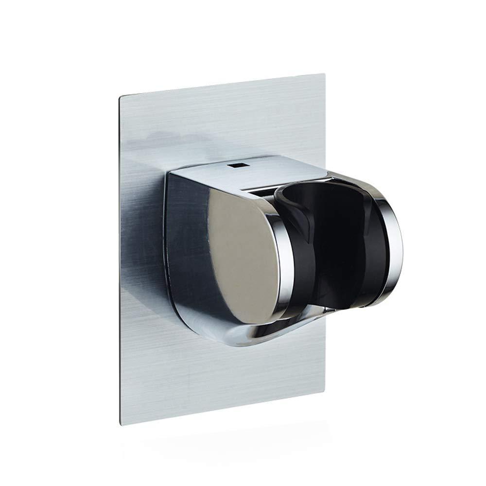 Globaldream Cabezal de ducha Soporte de gran /ángulo Base impermeable de autoadhesi/ón ajustable para ba/ño