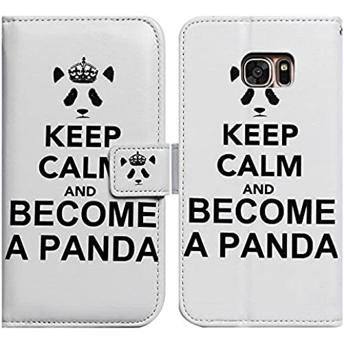 Bfun Packing Bcov Become A Panda Card Slot Wallet Leather Cover Case For Samsung Galaxy S7 Sales