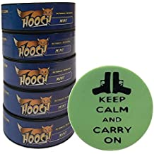 Hooch Herbal Snuff or Chew - 5 Can - Includes DC Skin Can Cover (Mint Fine) (Carry On Skin)