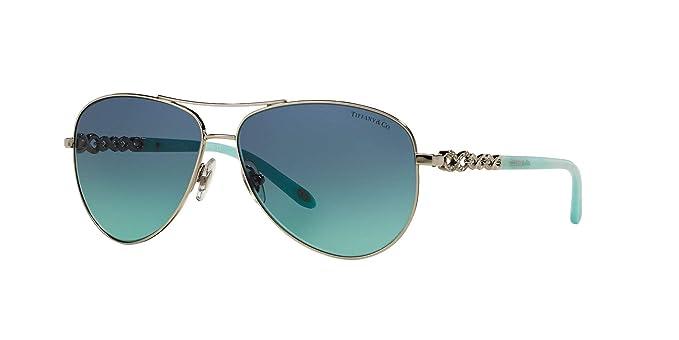 bdddc1250e8dc Amazon.com  Tiffany   Co. TF-3049-B Avitor Sunglasses for Women Blue ...