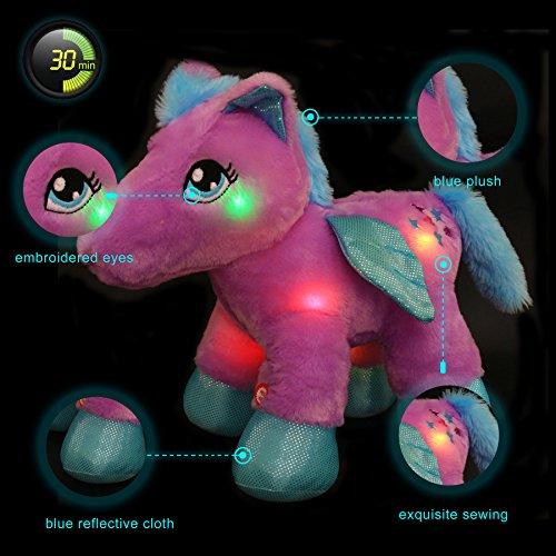 Wewill Led Pegasus Stuffed Animal Glow Unicorn Soft Plush Toys 30