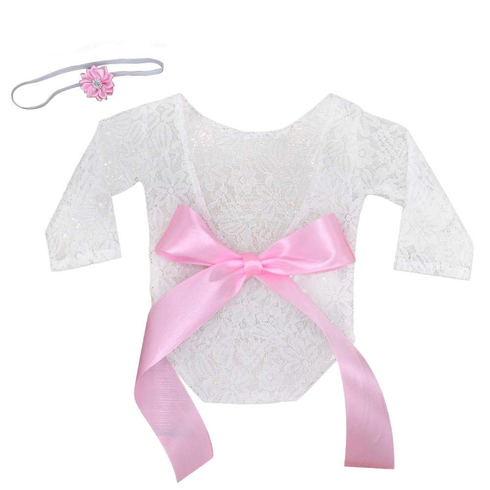 FOONEE Newborn Baby Photography Prop Lace Baby Girl Romper Outfit Clothes Newborn Baby Girls Photography Props Lace Romper Photo Shoot Props Outfits
