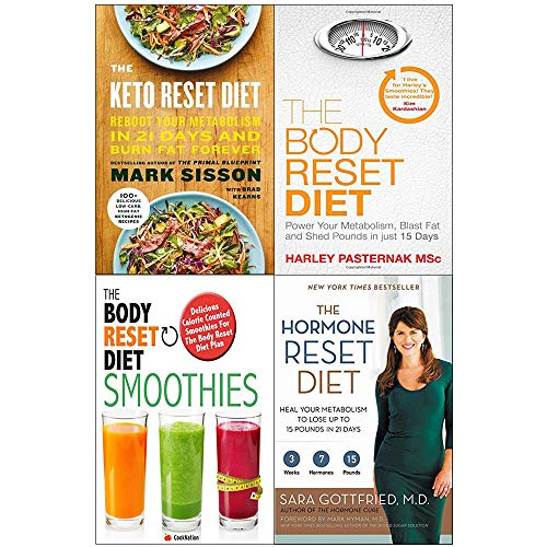 Hormone and keto and body reset diet smoothies 4 books collection set