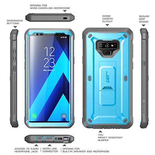 super quality half price new photos SUPCASE Unicorn Beetle Pro Series Design for Samsung Galaxy Note 9 Case,  with Built-in Screen Protector & Kickstand Full-Body Rugged Holster Case  for ...