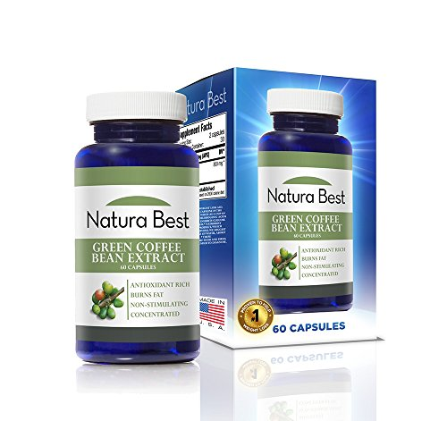 NaturaBest Green Coffee Bean Extract - With GCA - 100% PURE Green Coffee Bean 60 capsules (Naturabest Green Coffee Bean compare prices)