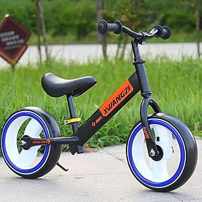 MEILA Bicicleta sin Ruedas de Dos Ruedas 12 Sport Balance Bike Ligero Equilibrio Entrenamiento Bicicleta Asiento Ajustable Primer Regalo de cumpleaños de la Bicicleta for Edades de 14 Meses a 6 años: