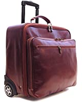 Floto Monticello Rolling Brief - Italian Leather Roller Bag