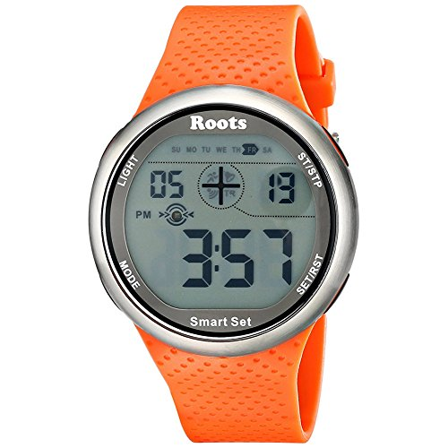 Roots Men's 1R-AT404OR1O Cove Digital Display Quartz Orange Watch