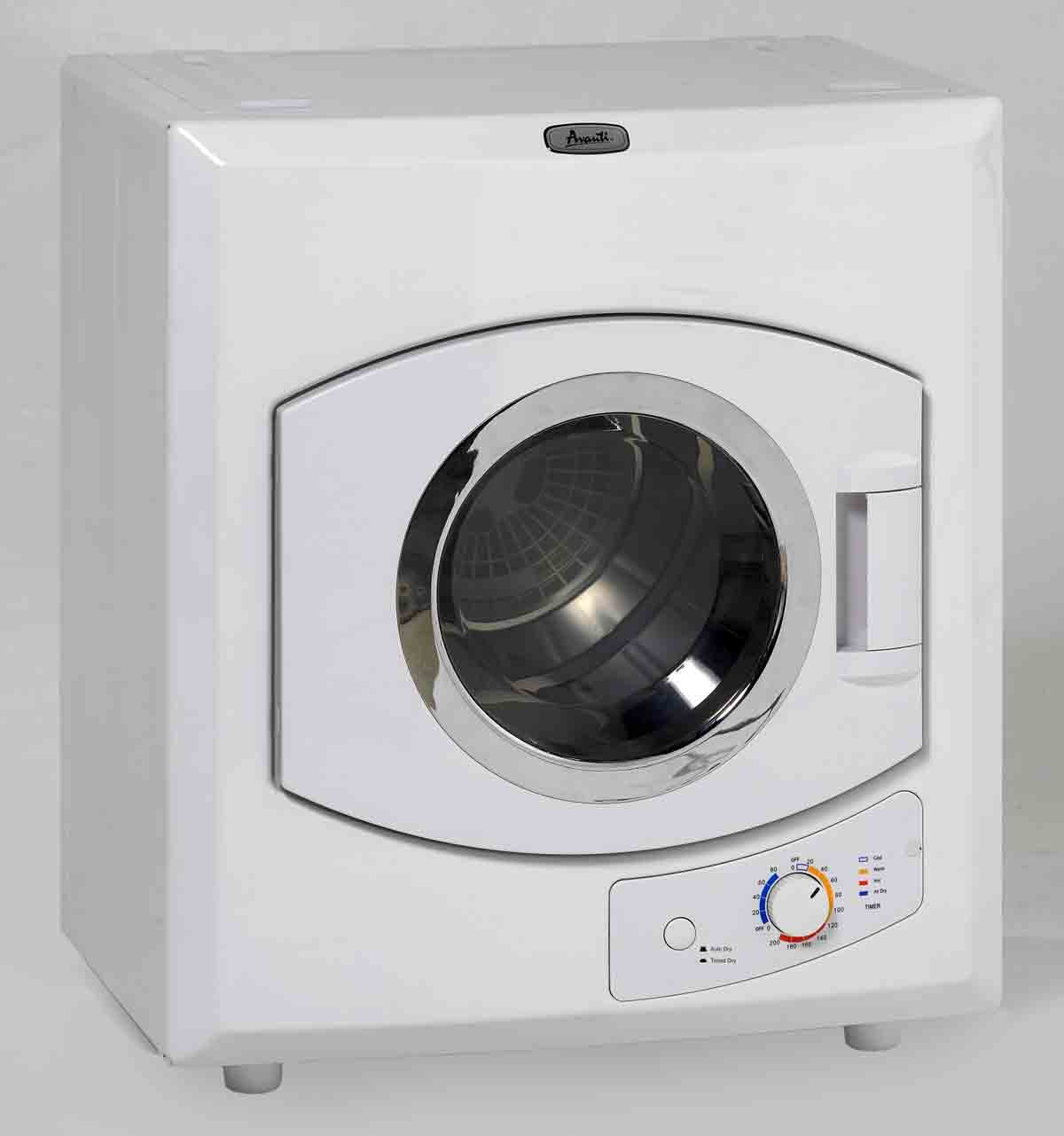 Avanti 110-Volt Automatic Portable Compact Dryer with Stainless Drum and See-Thru Window D110-1IS