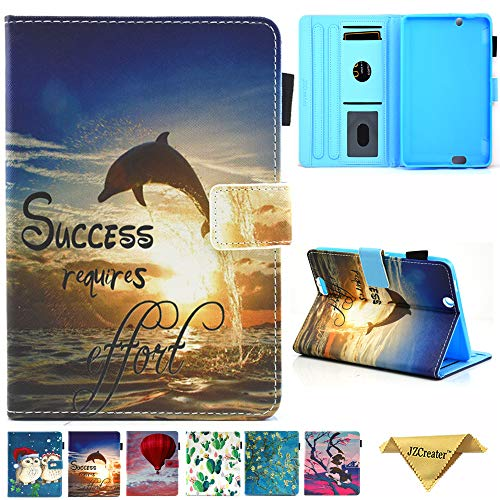 Folio Case for Kindle fire HDX 7, JZCreater Slim Leather Smart Case Cover with Auto Wake/Sleep for Amazon Kindle Fire HDX 7.0 Inch 3rd Generation Tablet, - 7 Fire Hdx Cover And Kindle Case