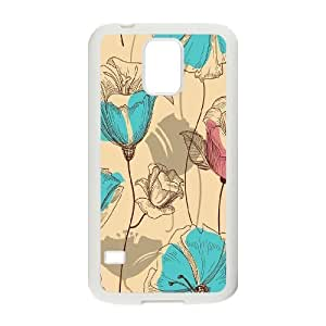 Vintage Flower ZLB543429 Personalized Case for SamSung Galaxy S5 I9600, SamSung Galaxy S5 I9600 Case