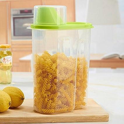 Recipiente de almacenamiento para cereales – mantiene los alimentos secos – ideal para harina, azúcar