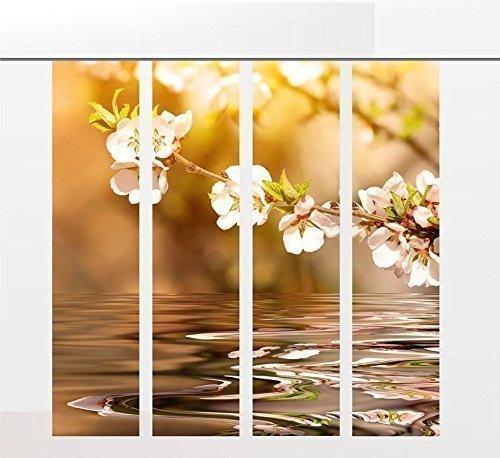 Gardinen-for-life Flächenvorhang Blütenzauber 4er - Serie, Jew. Gr.60x245 cm, Set 4tlg,