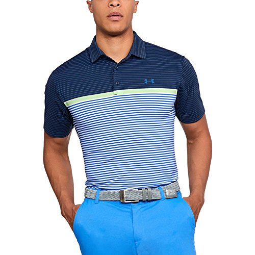 (Under Armour Men's Playoff Polo, Academy (454)/Mediterranean, Small)