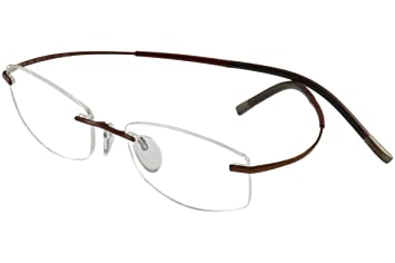 7962ed8acd9 Image Unavailable. Image not available for. Color  Silhouette Eyeglasses  Titan Min Art Icon Chassis 7581 6052 Optical Frame 17x140