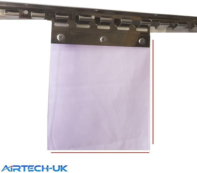 Cortina de tira Airtech para la puerta del congelador, 1 m x 2 m, pvc, Morado, 1 m x 2 m: Amazon.es: Hogar