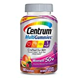 New Centrum MultiGummies Women 50+ (90Count) Multivitamin/Multimineral Supplement Gummies, with 100% DV of Vitamins D3, E, B6, B12, Age 50+
