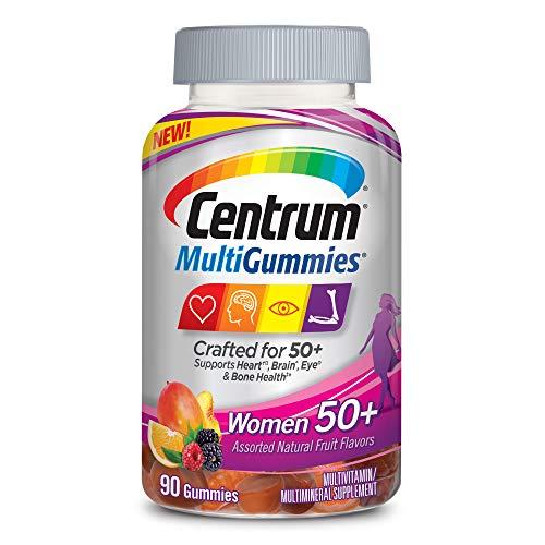 New Centrum MultiGummies Women 50+ (90Count) Multivitamin/Multimineral Supplement Gummies, with 100% DV of Vitamins D3, E, B6, B12, Age 50+ (Centrum Silver 125 Tablets)