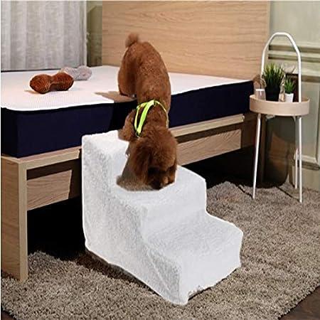 Yshen Escalera para Perros Escalera para Perros con Escalera de Caracol para Perros Pequeña Escalera para Perros con Escalera de 3 Peldaños: Amazon.es: Productos para mascotas