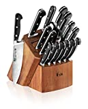 Cangshan V2 Series 1022551 German Steel Forged 17-Piece Knife Block Set , Acacia
