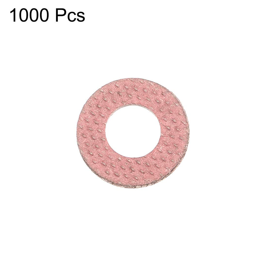 Insulating Washer 500 Pieces red Vulcanized Fiber Washer 6 mm x 12 mm x 0.8 mm Insulating Joint for Base Plate