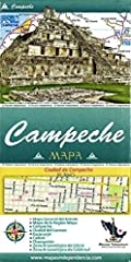Folded color map in Spanish with some legends and a brief history also in English. Includes a state map (scale 1:800,000), Campeche (1:16,280), Ciuded del Carmen (1:20,160), Escarcega (1:21,625), Champoton (1:34,170), and Calkini (1:20,900). ...