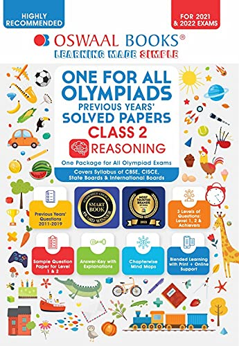 One for All Olympiad Solved Papers, Class-2 Reasoning Book (For 2021 Exam)