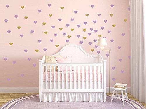 Heart Wall Decal / Gold Heart wall Decal / Mini Heart decal / Large Heart decal / baby wall decal / gift