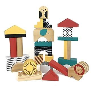 Petit Collage Animal Town Wooden Blocks