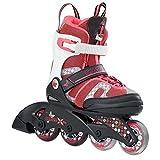 K2 Skate Charm X Pro children Inline Skates, Size 11-2, Black/Pink