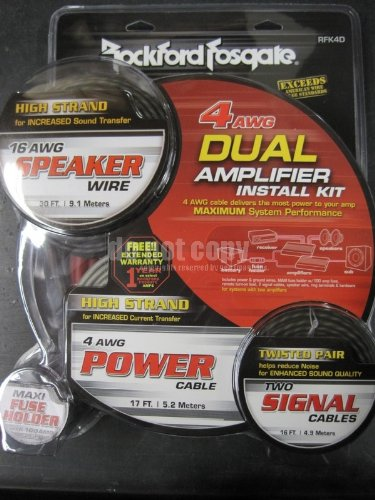 Rockford 4 Awg Complete Installation Kit primary