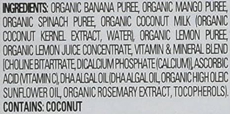 HappyFamily - HappyTot Organic Stage 4 Super Smart Pouch Bananas, Mangos & Spinach + Coconut Milk - 4 oz. Happy Family