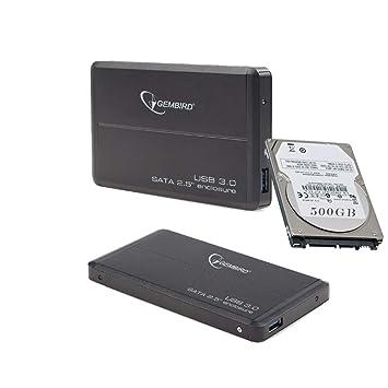 "2.5/"" 500GB Ultra Slim Portable External Hard Drive USB3.0 HDD Storage-Black"