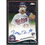 Josmil Pinto Autographed 2014 Topps Chrome Rookie Card - Baseball Slabbed Autographed Cards
