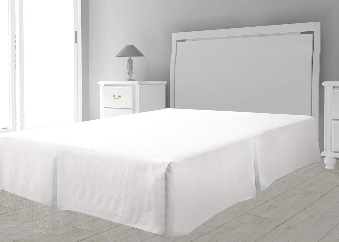 Intemporel Cache sommier Microfibre 140 x 190 cm Blanc Polyester