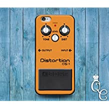 *BoutiqueHouse* iPhone 4 4s 5 5s 5c SE 6 6s plus iPod Touch 4th 5th 6th Generation Cute Rock Roll Orange Music Band Distortion Pedal Guitar Case Cool Cover(iPhone 5/5s)