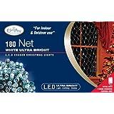 Benross The Christmas Lights 1.8 x 1.2m 180 Ultra Bright LED Net Chaser Lights - White