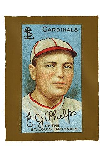 St. Louis Cardinals - Edward J. Phelps - Baseball Card (60x80 Poly Fleece Thick Plush Blanket) (Phelps Cards)